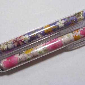 可愛い押し花ボールペン