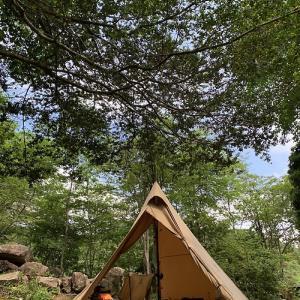 梅雨晴れ間のひとりキャンプ