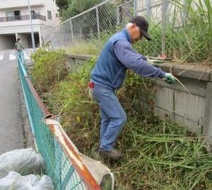 父ちゃん草刈りのボランティアをする