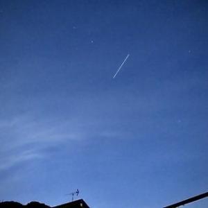 今日もISS(国際宇宙ステーション)が見えた。