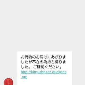 フィッシング詐欺の手口(SMS)☆