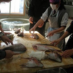 おさかな料理教室 【水産増殖科第3学年 科目「総合実習」】