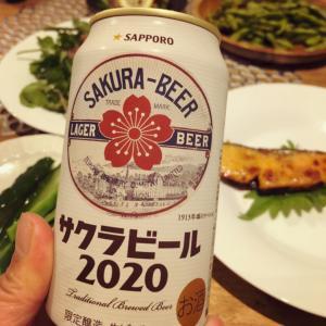 サクラビールとスパイシー枝豆