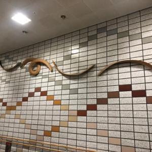 札幌市 野外彫刻 かでる27連絡通路