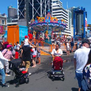 Auckland  Anniversary Weekendで盛り上がる港