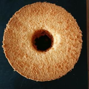 桃とチーズのシフォン