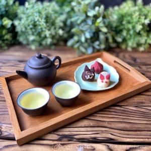 手作りおやつ~練り切りと緑茶