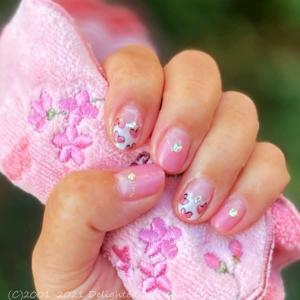 新色ピンク♡バレンタインネイル