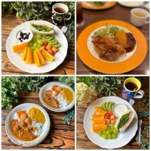 日替りランチ・モーニングプレート・カレーライス~食事記録