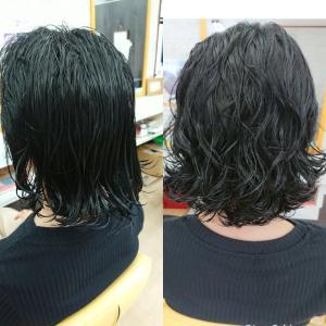 酸性パーマ 黒髪はかかりずらいはずなのに?