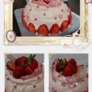 Thank U ❤ MOMO  ~birthday cake for me~