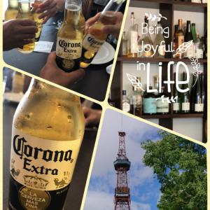 Power lunch with corona beer