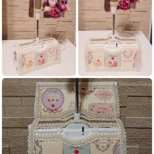 Cartonnage Lint roller  ~Macaron pattern~