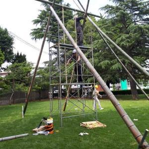 竹の巨大ブランコ 五福公園