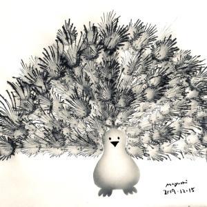 ●生徒さんの作品「Happy Peacock」