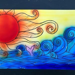 ●生徒さんの作品「太陽と海」