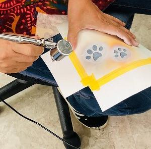 ●絵の具をジーンズにこぼしちゃった時は、、