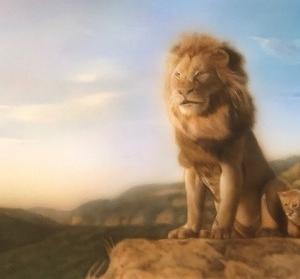 ●生徒さんの作品「ライオンの親子」