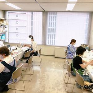 ●カルチャースクール産経学園大阪校でのエアブラシ講座の様子(6月分)