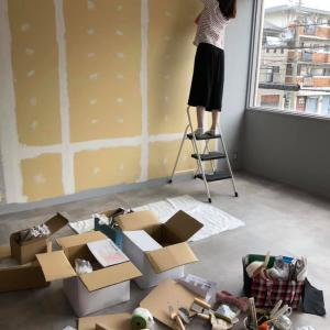 ●初めて壁に漆喰を塗りました(#^^#)