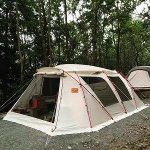 夏休みロックIVORY初張りキャンプ