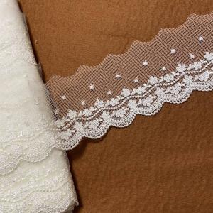 繊細な刺繍が美しいチュールレース入荷しました