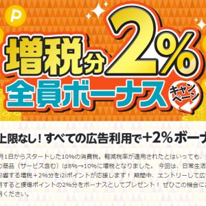i2iポイント 今月はすべての広告利用で2%のボーナスプレゼント