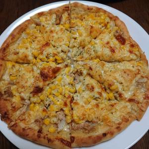 次女の手作りピザ!