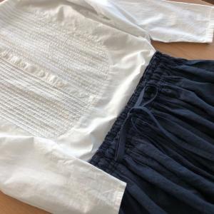 コットンリネン タンブラーワッシャーのギャザースカート!
