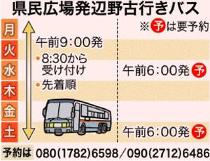 2017年6月辺野古への大型バス運行日程