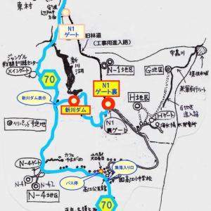 高江:N1ゲート裏と新川ダム駐車場の地図と…地図からわかる『標的の村』建設の狙い。