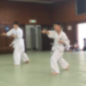 ひーくんの空手の昇段試験