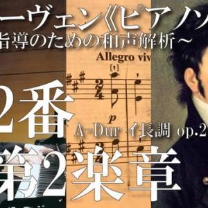 【和声解析動画】ベートーヴェン《ピアノソナタ 第2番 A-Dur op.2-2》〈第2楽章〉【和声解析(完結)目次(時間指定)付き】