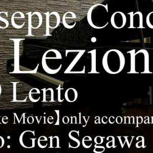 Concone, 50 Lezioni op.9 No.9 Lento F-Dur  (Karaoke Movie) Piano played by Gen Segawa