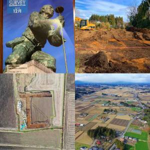 #大田原遺跡 #測量 #最近の地震と地殻変動