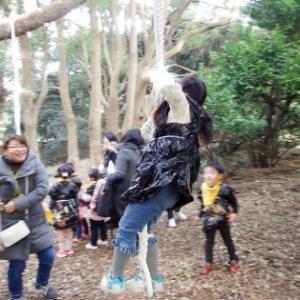 「ミノムシになろう!」〜ふくるる森のようちえん
