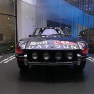 1972年モンテカルロラリー 総合3位となったダットサン240Zと銀ブラ
