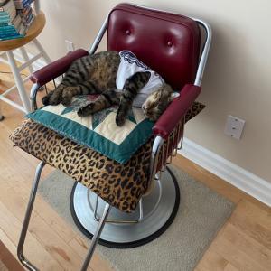 昭和時代の床屋椅子