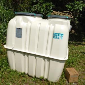 合併浄化槽の設置工事 暑かった!