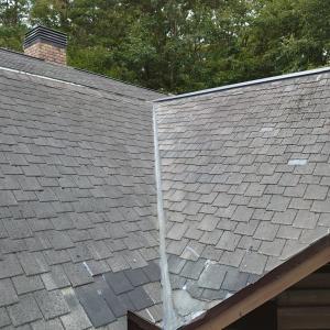 水曜日、別荘の雨漏り修理でした。