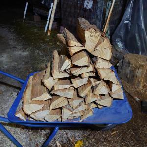 土曜日のキャンプ用薪の売り上げは?