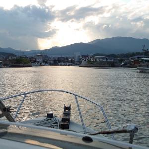 久し振りにボートに乗ったよ ほんの10分くらいですけど