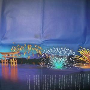 宮島AR水中花火大会を見ていたら涙が出そうになりました。