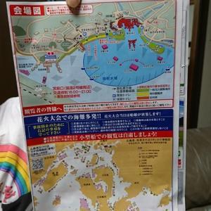 宮島花火大会、マイボートで海上観覧で悩ましい