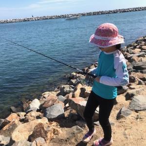 娘ちゃんと、海釣りデート♪