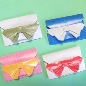 折り紙のリボン付封筒の折り方作り方 創作