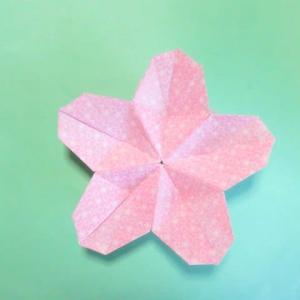 折り紙の桃の花の折り方作り方 創作