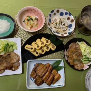 豚の生姜焼き & 鰻巻き~♡