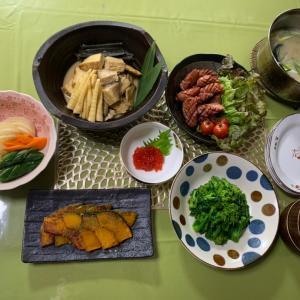 ニシンとタケノコの煮物 & 菜の花のからし和え~♡