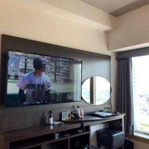 結局ホテル移動して部屋で観戦してます!オリンピック卓球が見たいから!北海がんばれ!!全力応援!
